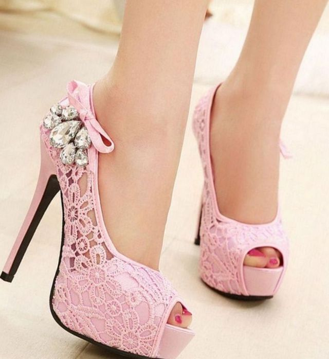 most comfortable pink platform wedding shoes