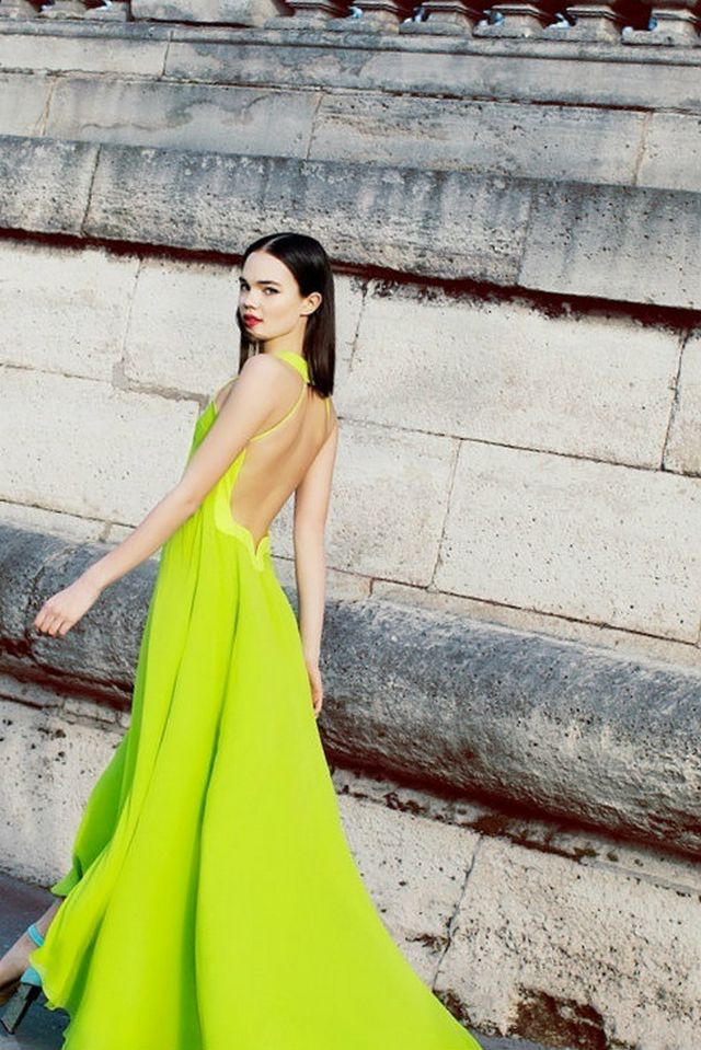 neon bridal gowns