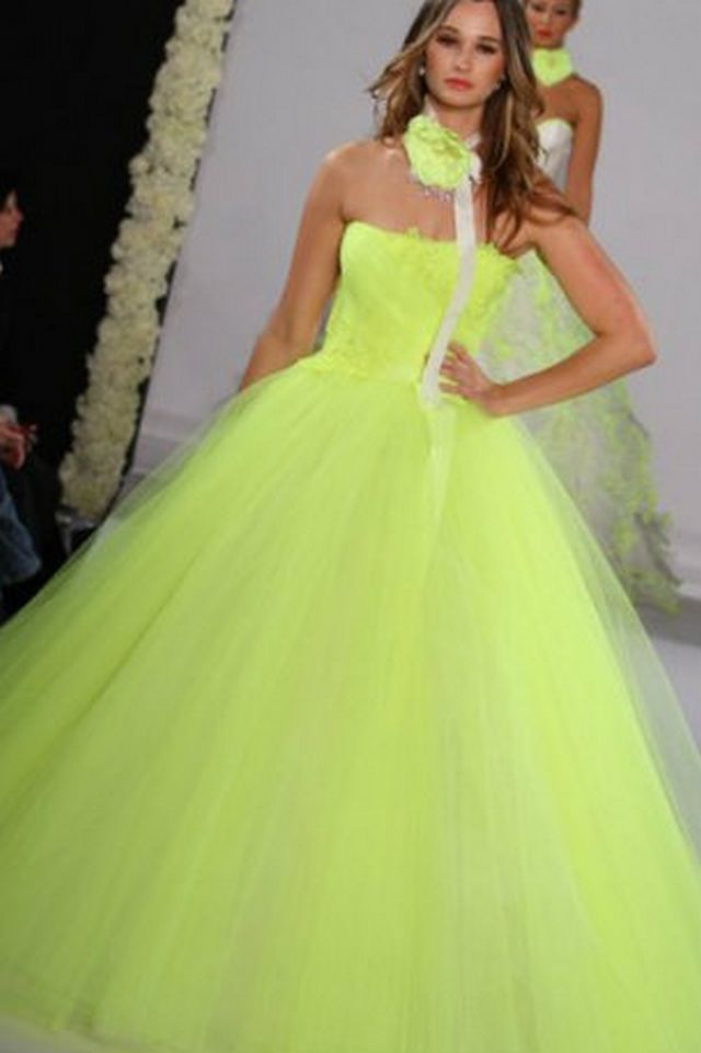 neon wedding dresses