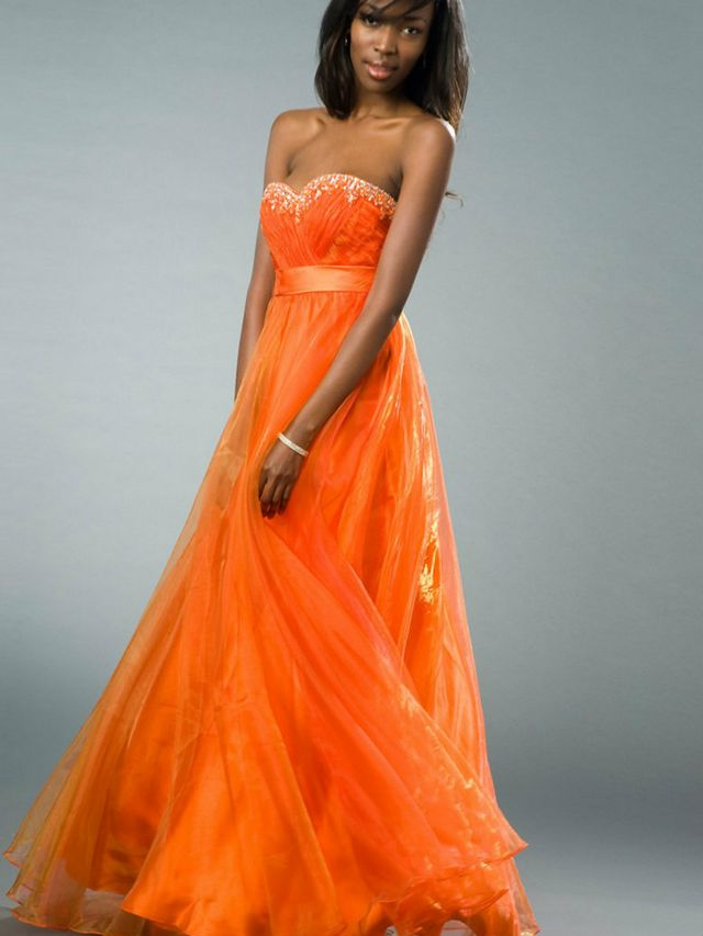 orange bridal dresses for pregnant