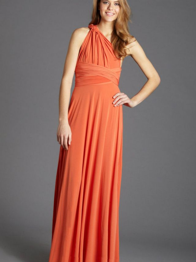 orange bridal dresses