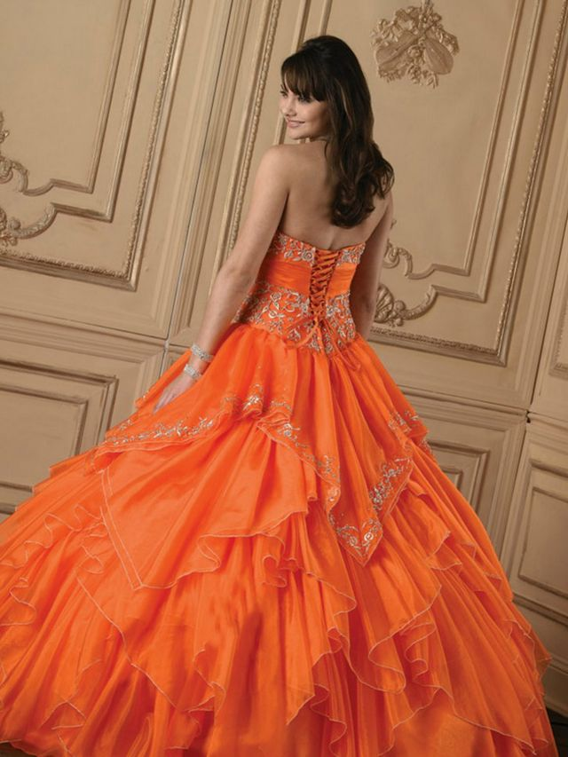 orange camo wedding dresses