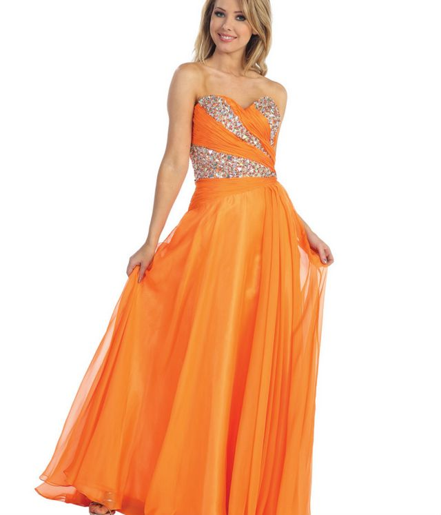 orange dresses for wedding
