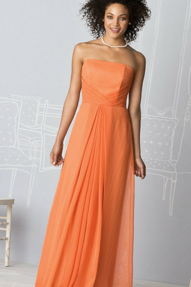 orange wedding dresses picture