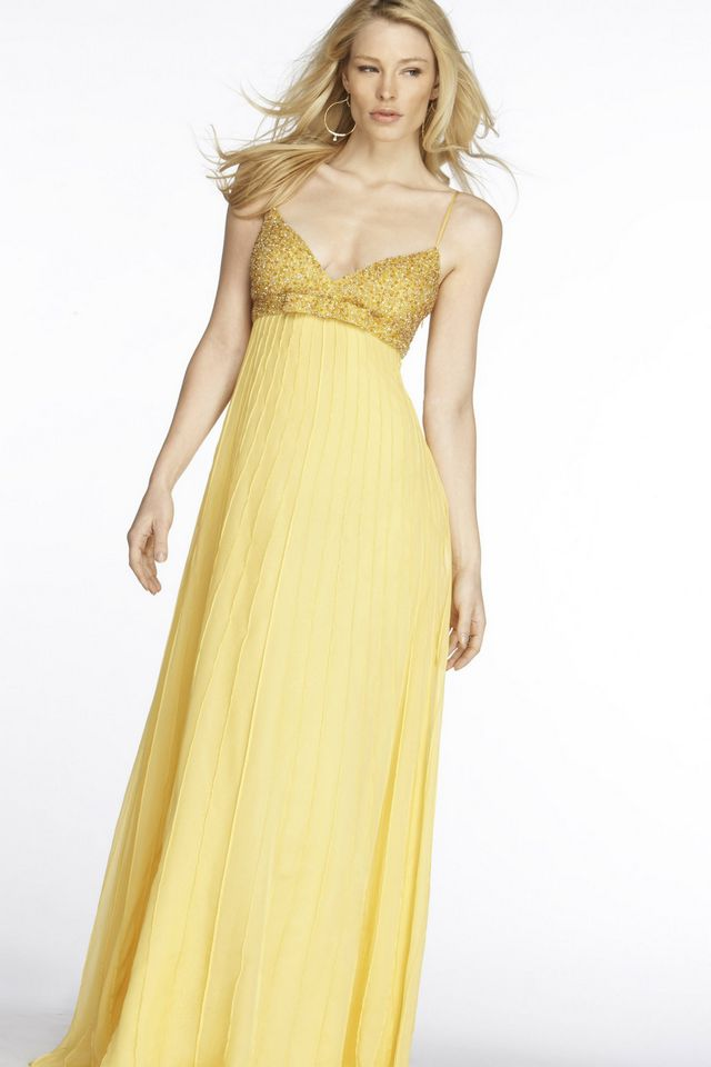 pale yellow bridal gowns