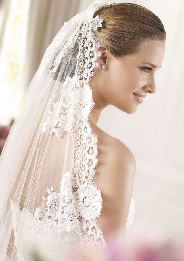 pictures of bridal hairstyles for long veil