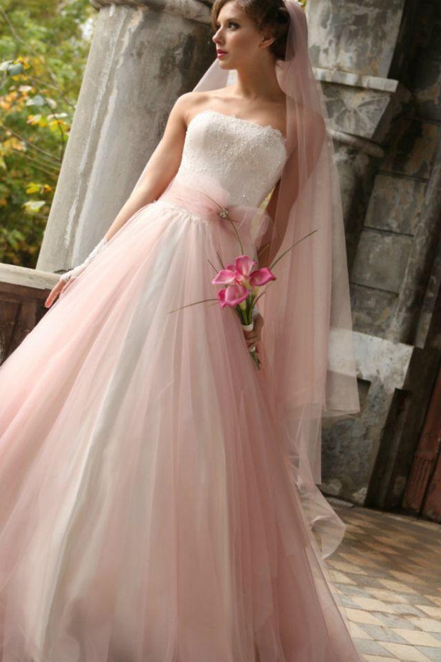 pink bridal dresses