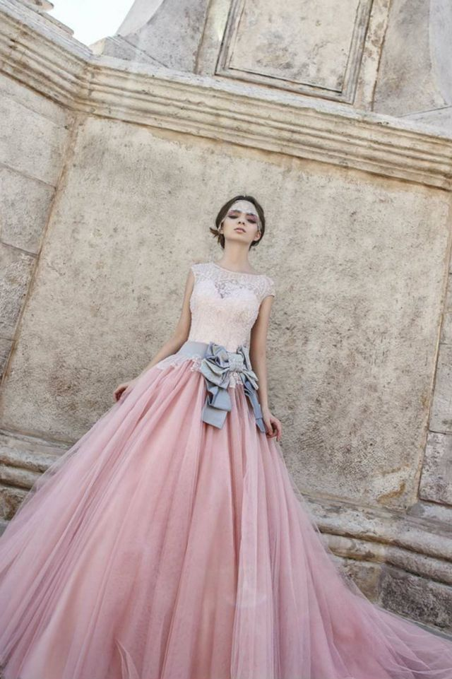pink gowns for wedding