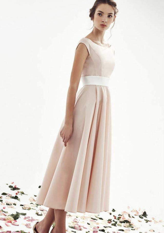 pink wedding dresses with belt
