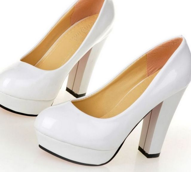 platform wedding shoes with strap
