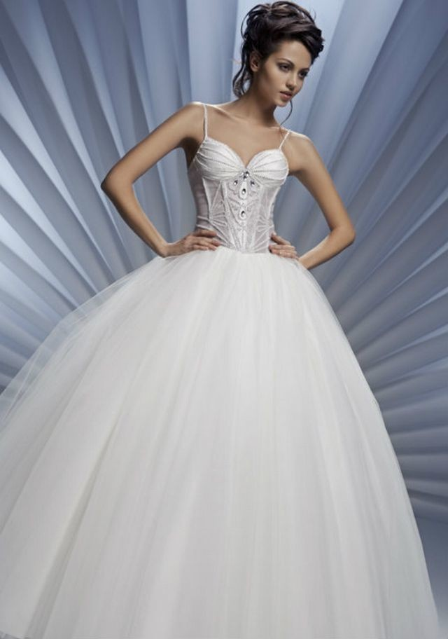 puffy cinderella wedding dresses