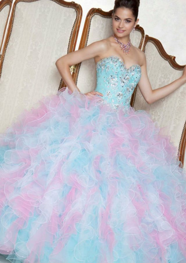 puffy neon wedding dress