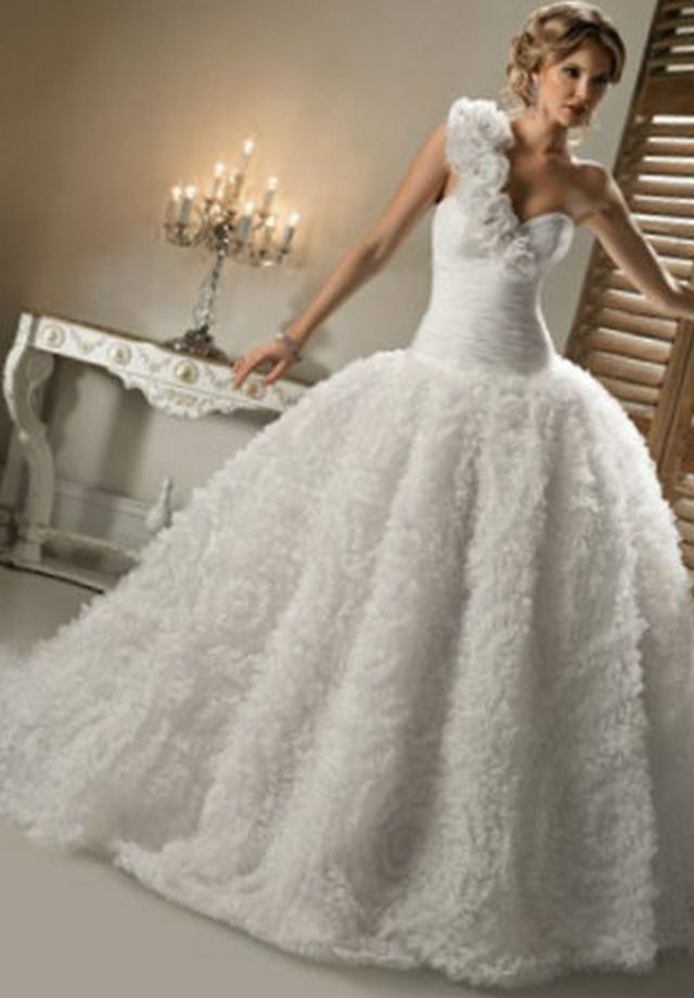 puffy wedding dresses images