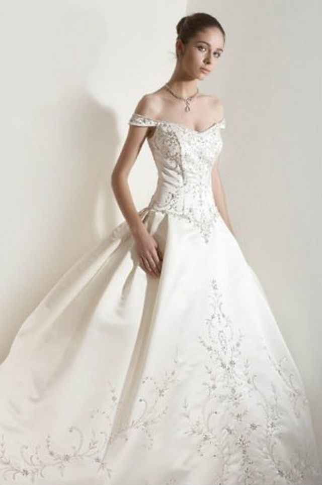 puffy wedding dresses photo