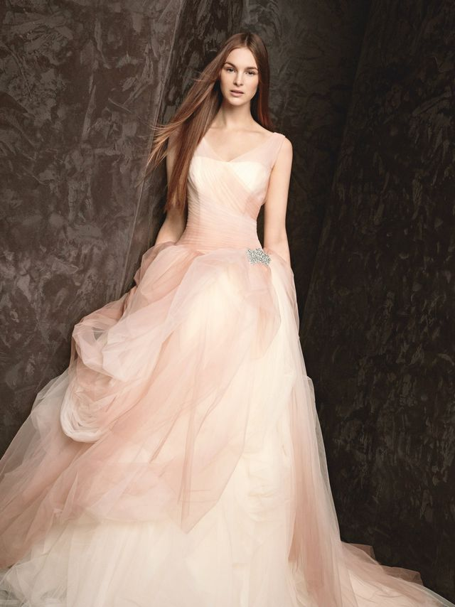 Puffy Wedding Gown Pink Color