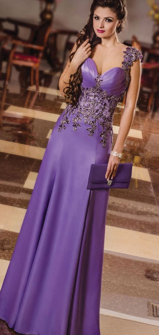 purple wedding dress picture