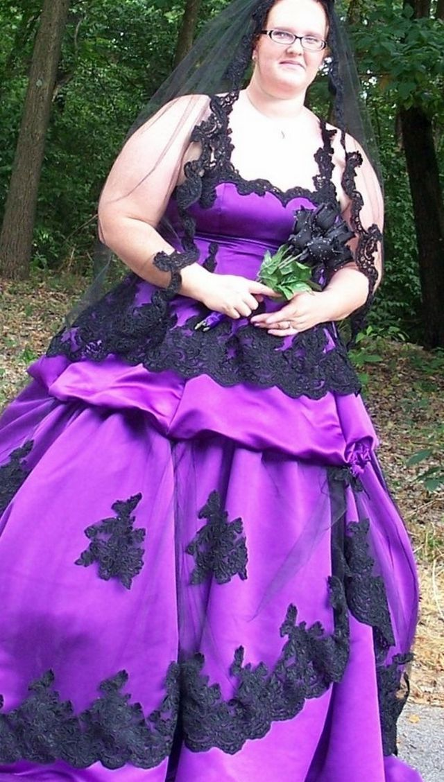 purple wedding dresses plus size