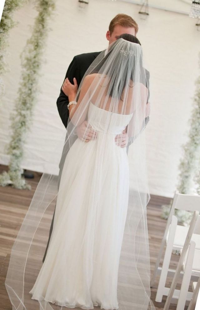 really long wedding veils