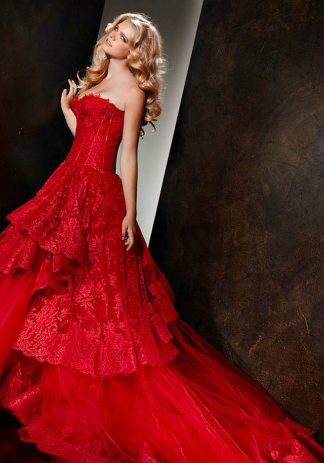 red bridal dresses