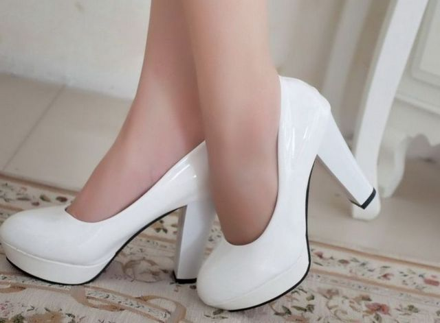 white high heels wedding shoes