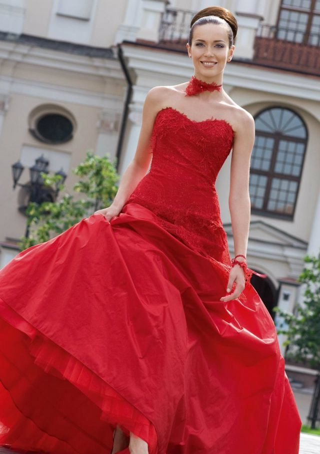 red wedding dress for pregnant