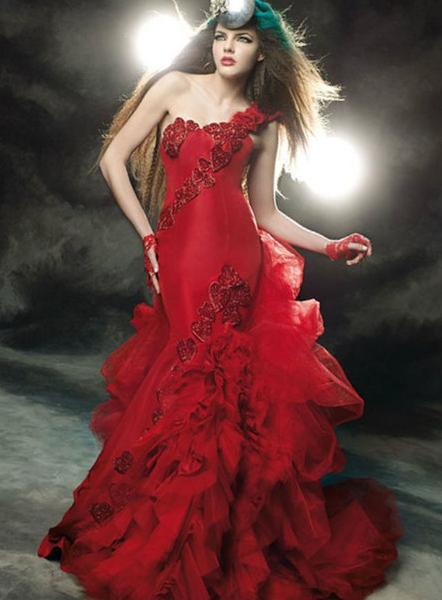 red wedding dresses 2016