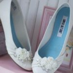 satin ballet flats wedding