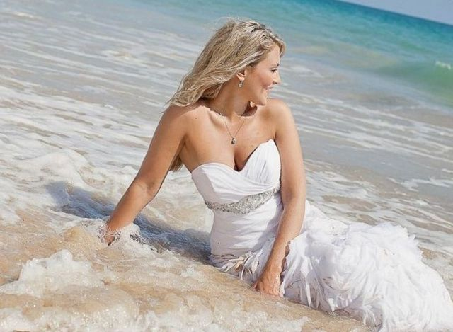 sexy beach wedding dresses image