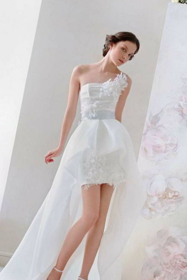 sexy mini wedding dress