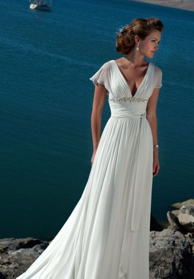 short beach bridal dresses