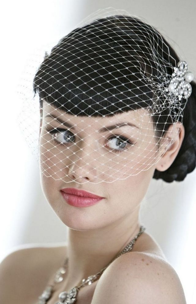 short bridal veil diy