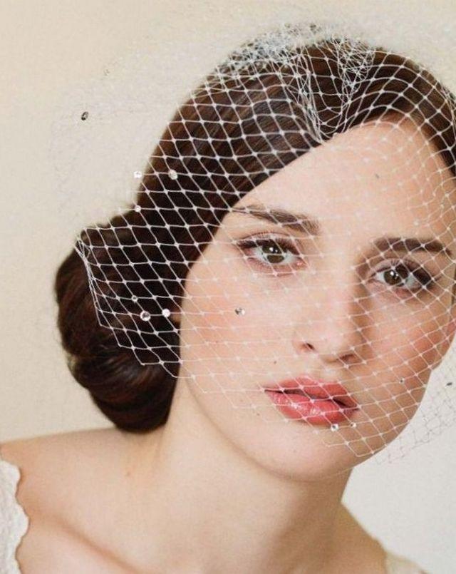 short bridal veil styles