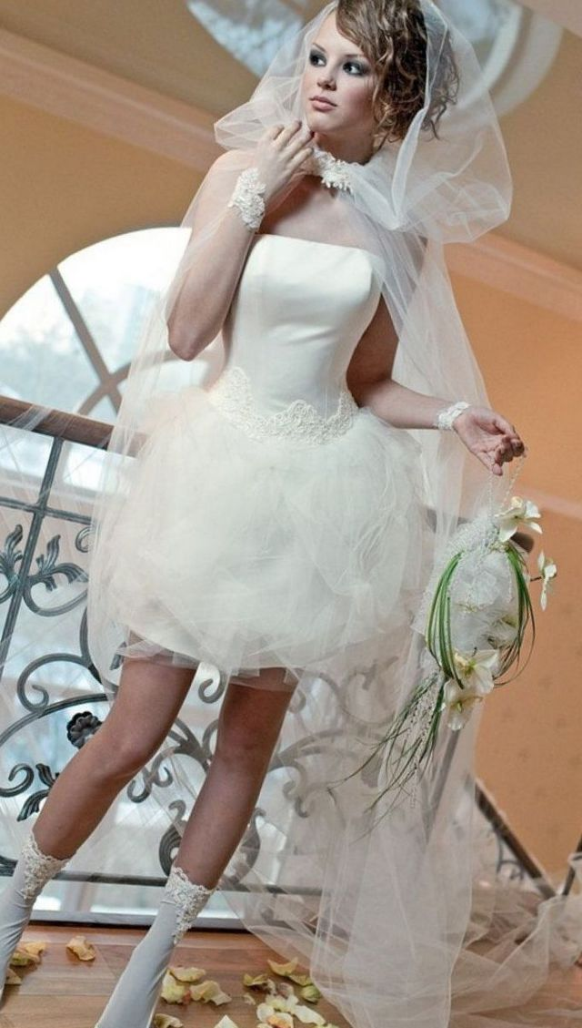 short bridal veils