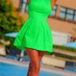 short bright wedding dress