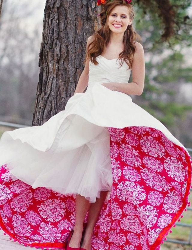 short colored bridal dresses image