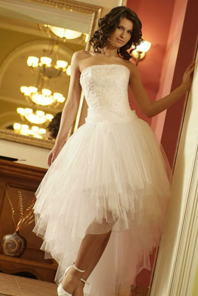 short mini bridal gowns photo