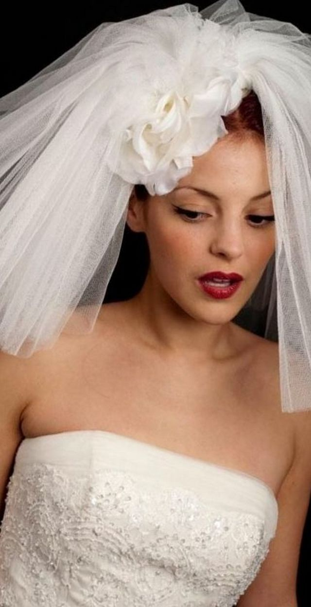short netted wedding veils