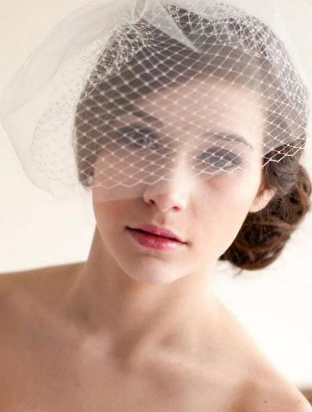 short vintage wedding veils