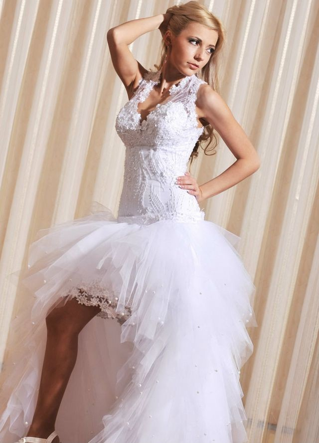 short wedding dresses and shoes