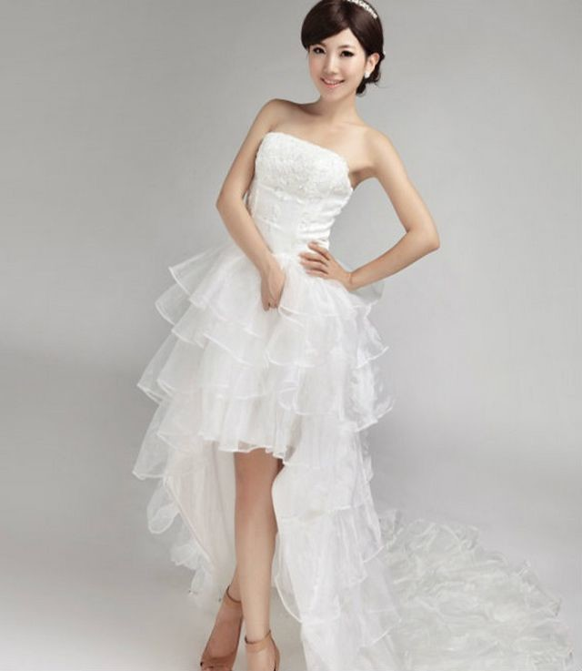 short wedding dresses for brides mini length