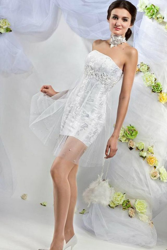 short wedding dresses for cheap