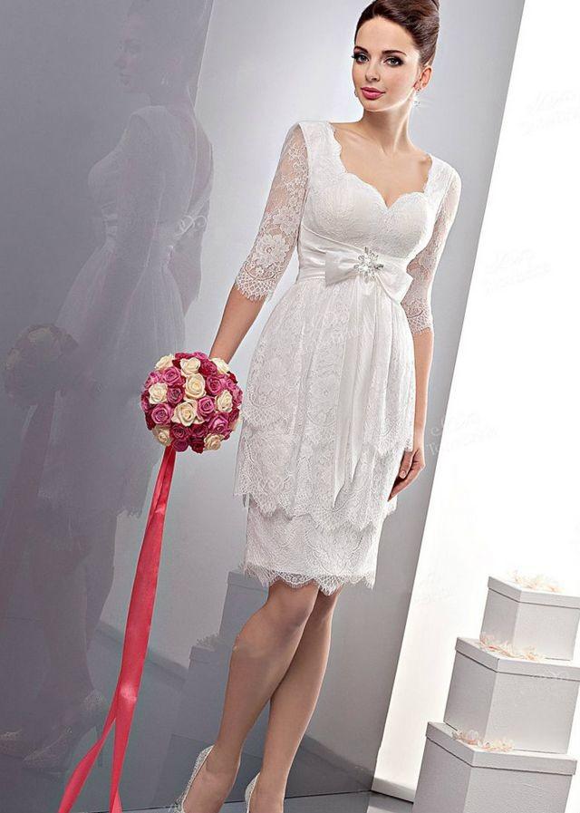 short wedding dresses for plus size