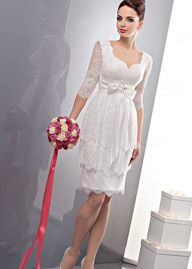 short wedding dresses for plus size