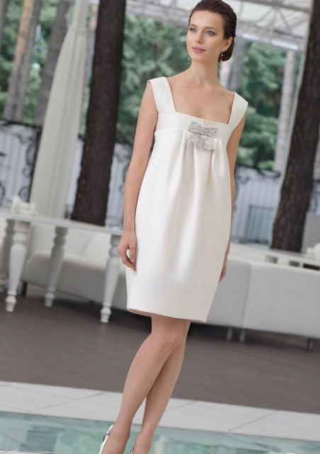 short wedding dresses for pregnant brides