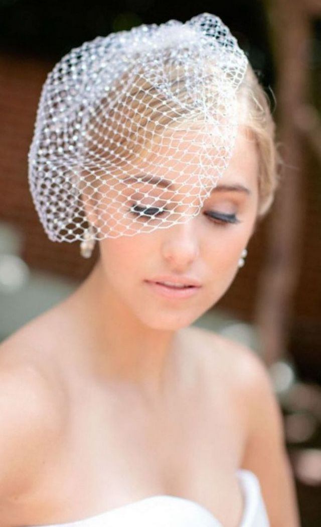 short wedding veils ivory