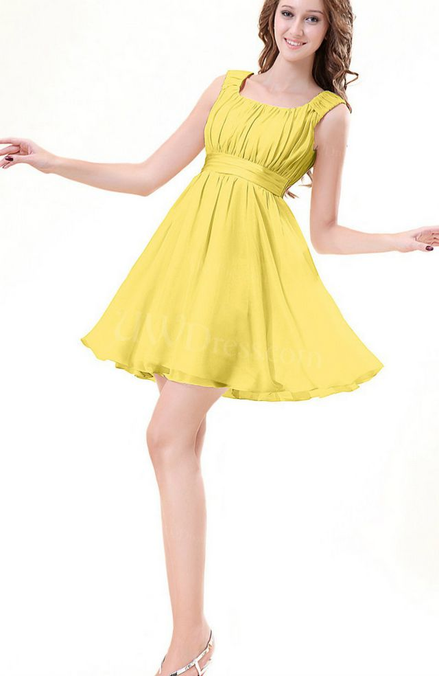 short yellow wedding dresses