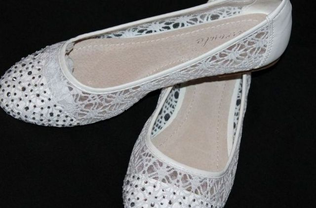silver ballet flats for wedding