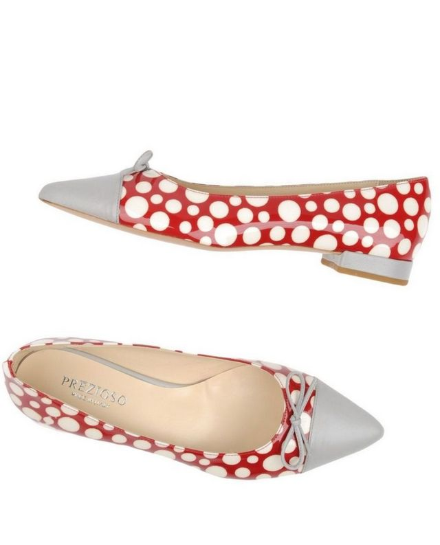 red and silver wedding ballet flats