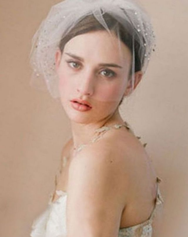 simple short wedding veils