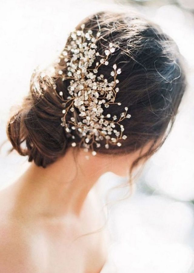 simple wedding headbands